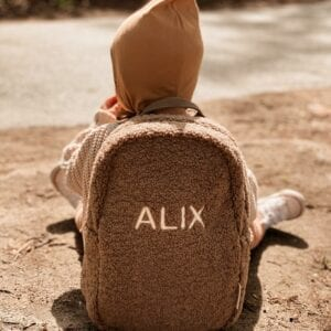Studio Noos Mini Chunky Backpack Brown PERSONALIZED